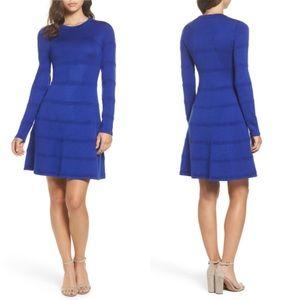 NWT Eliza J  A  line sweater dress in cobalt blue